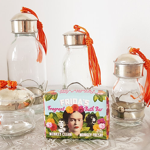 Glass Bottle with Metal for Zero Waste DIY beauty products - S