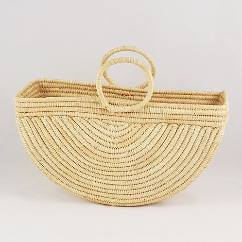 Half Moon Raphia Basket