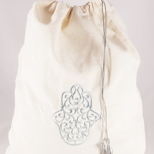Cotton Cord Bag with Fatma Hand Embroidery