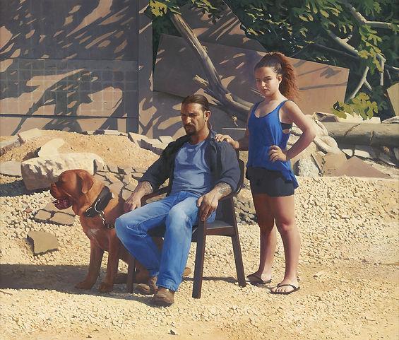 Annabelle and Guy, 130 X 120 Cm, Oil on