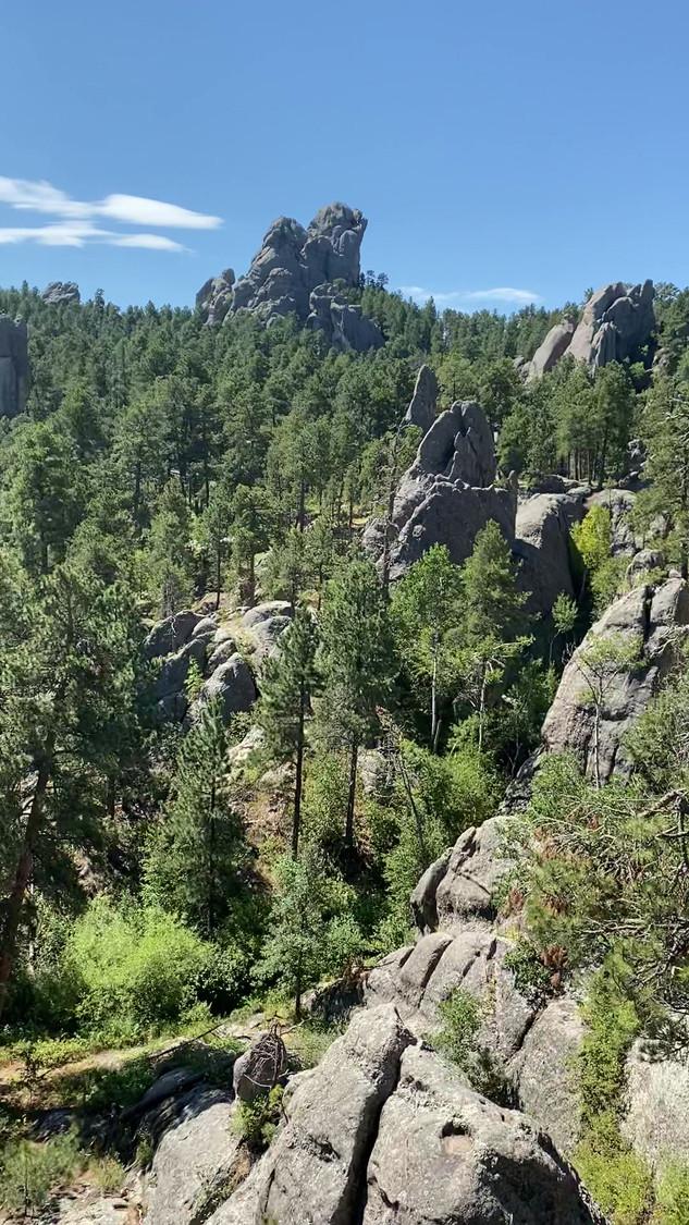 Top of a crag in Mt Rushmore Memorial