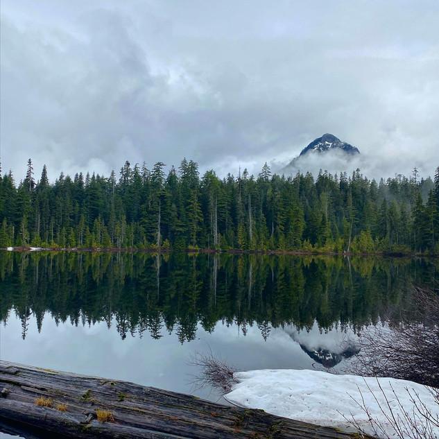 High lake fishing hole