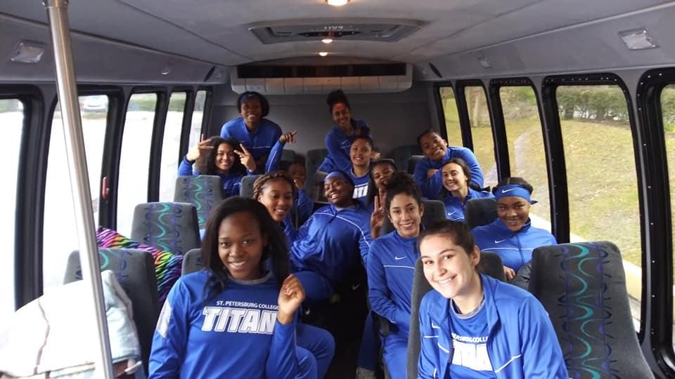 Girls Basketball Bus