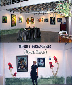 Murky Menagerie Show Installation