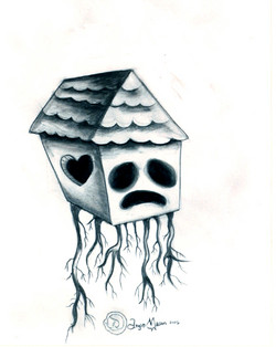 Uprooted House Girl Sketch