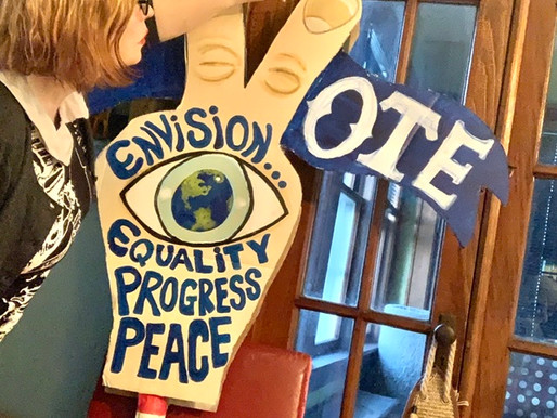 Making A Protest Sign and Voting!