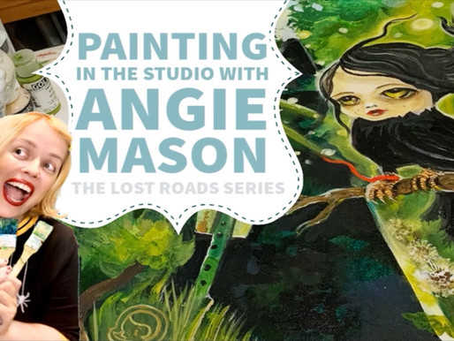 Painting in the studio with Angie Mason: Making the Lost Roads Series