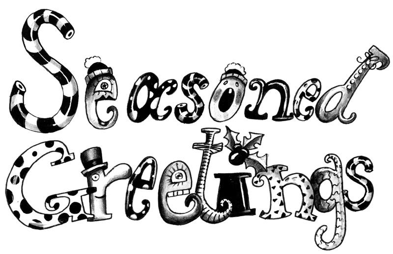 Seasoned Greetings lettering