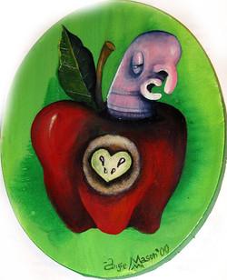 Apple Pit Heart