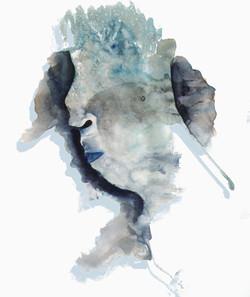 Blue Head Untitled