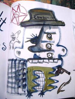 Cowboy - Sketchbook page