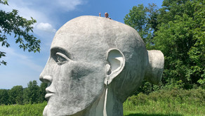 Giant Head in the Clouds in the Mountains! Taconic Sculpture Park!