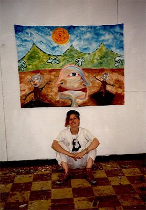 17 Year Old Angie with Painting