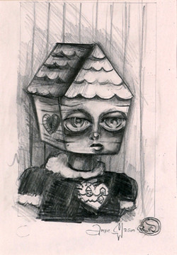 Housed Memories of the Heart Sketch