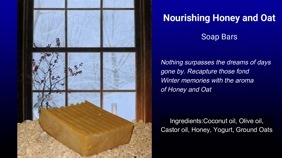 Nourishing Honey & Oatmeal Body Bar