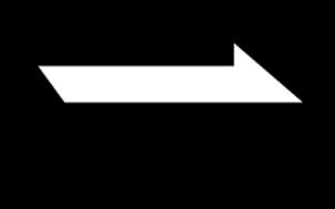 Noir et blanc Flèche droite