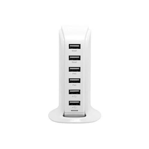 Chargeur secteur 6 ports USB 8A Moxie Smart Tower