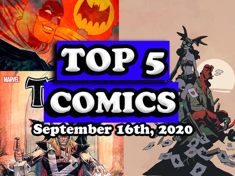 Top 5 Comics 9/16/20