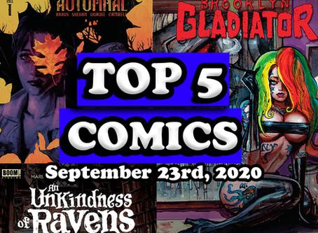 Top 5 Comics 9/23/20