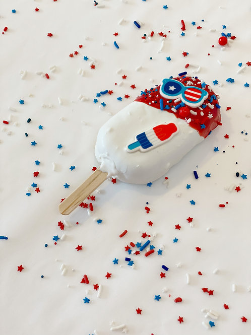 Red (white & blue) Cakesicle - 1