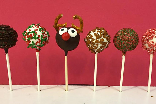 Ho Ho Holiday Cake Pops