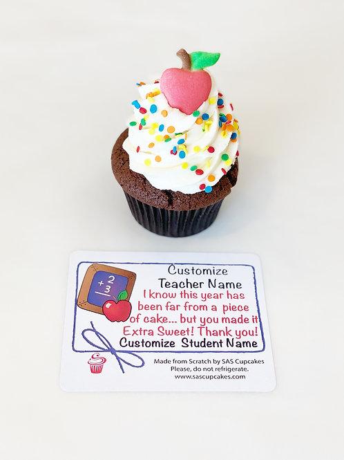 Teacher Appreciation Cupcake Gift Box