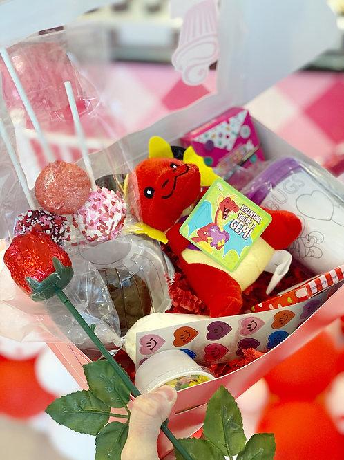 DRAGON Valentine's Day Cupcake + Craft Activity Kit