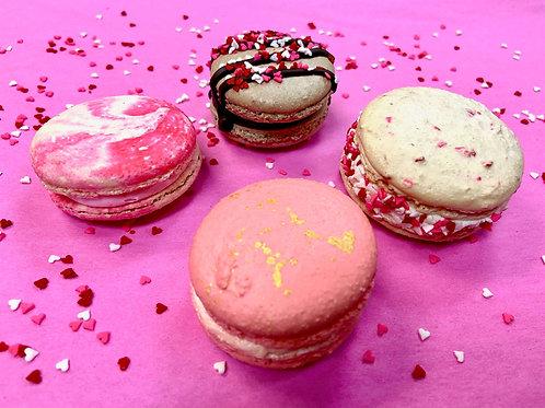 Dozen Romantic Macarons