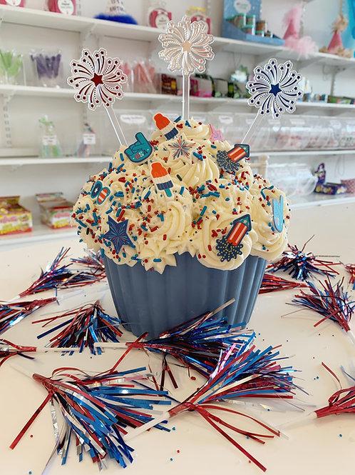 Firework Jumbo Cupcake