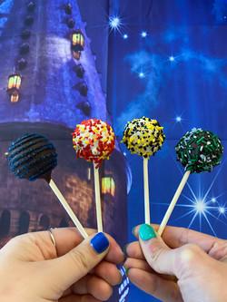 Hogwarts House Cake Pops