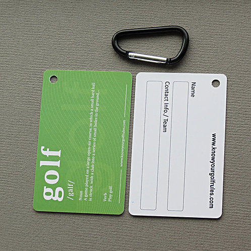 1-10 Golf ID Tags ($3.95/per tag)
