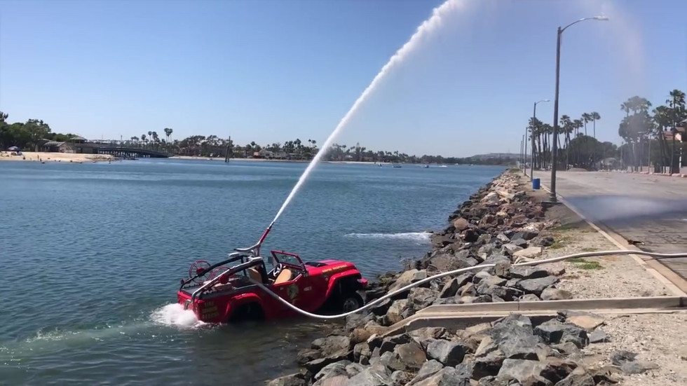 The First Amphibious Fire Rescue Vehicle