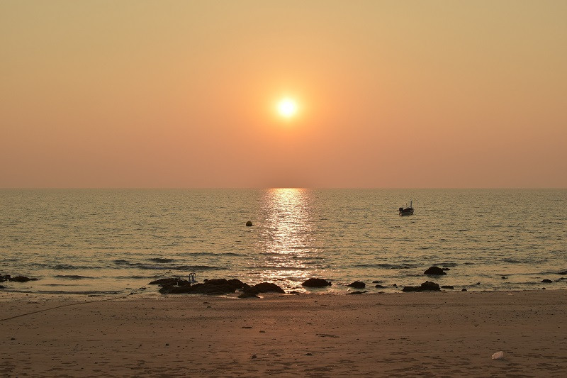 Perfekte Sonnenuntergangsstimmung