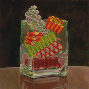 Ribbon Candy in a Glass Vase