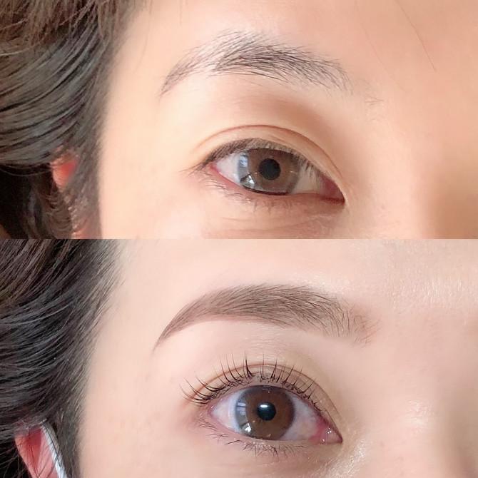 眉毛とまつげで目元の印象を華やかに✨