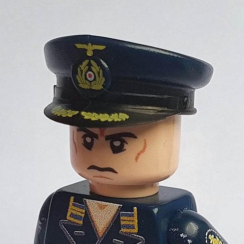 WW2 Kriegsmarine Captain Visor Cap, Dark Blue
