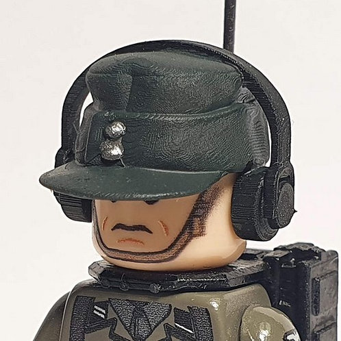 German Radio Operator Field Cap with Headphones