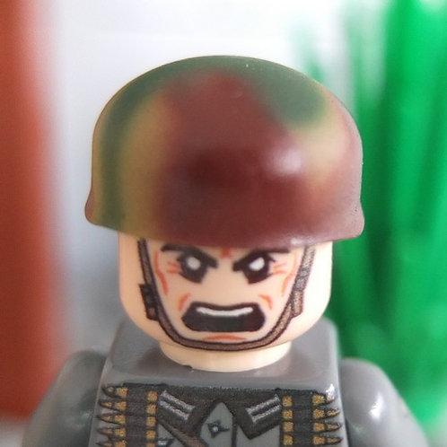 German Fallschirmjäger Helmet Tri-Color Swirl Camo