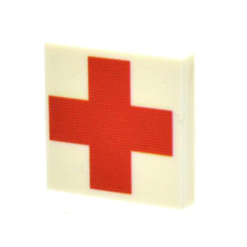 Custom Printed 2X2 Tile - Red Cross