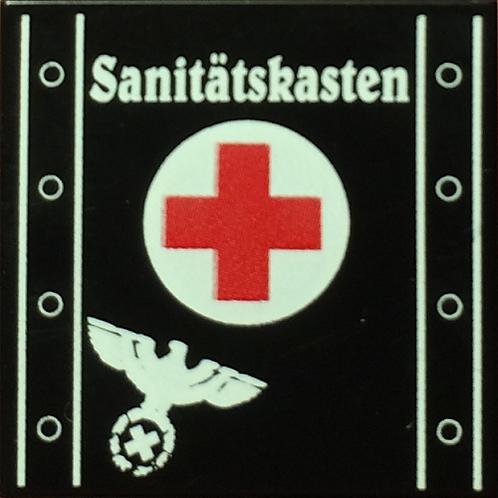 "Printed LEGO® Tile 2x2 'WW2 German Medical Chest"" (Sanitätskasten)"
