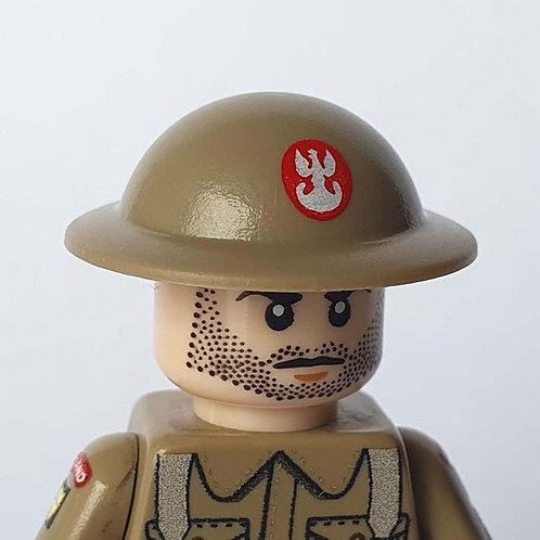 WW2 Polish Brodie Helmet SBSK Tobruk