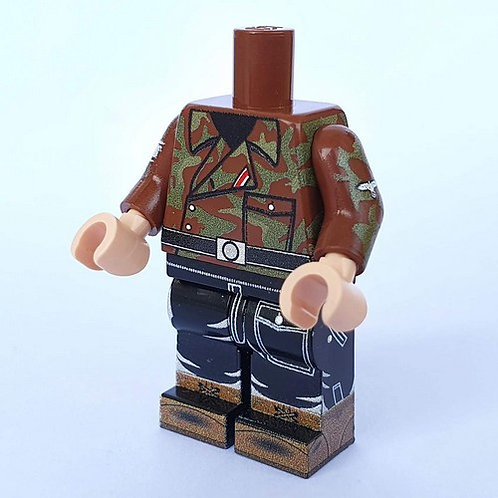 WW2 German Elite Panzer Commander Italian Camo (Telo mimetico) by Brickssoldier
