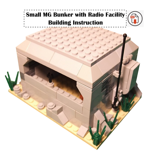Small MG Bunker with Radio Facility - Building Instruction
