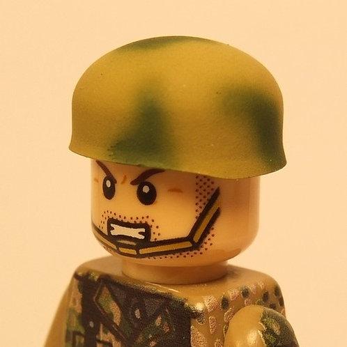 German Fallschirmjäger Helmet Normandy Tan & Green Camo