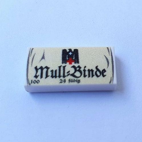 "Printed LEGO® Tile 1x2 'WW2 German Mull-Binde"""