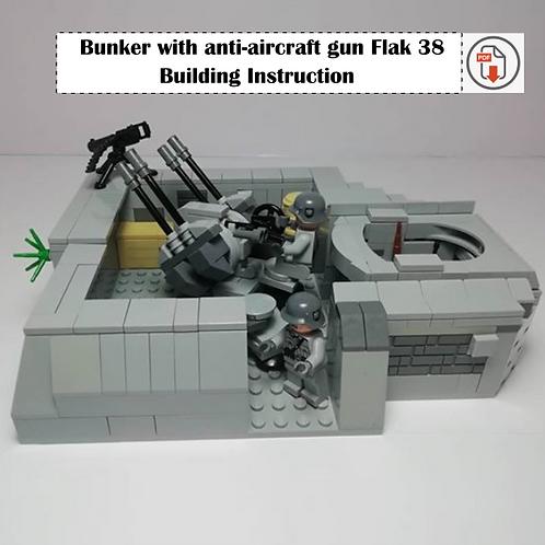 Bunker with anti-aircraft gun Flak 38 - Building Instruction