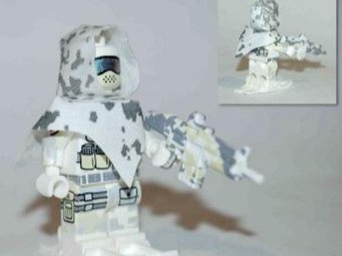 Snow Camo Poncho and Hood