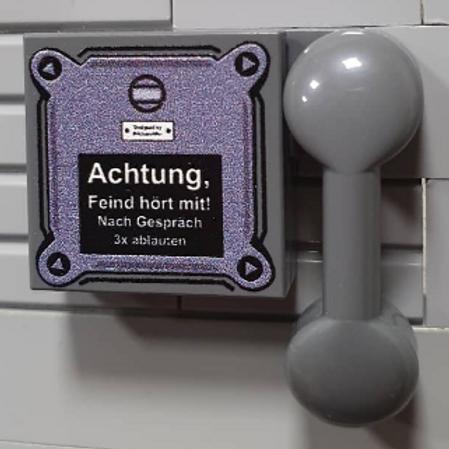 "Printed LEGO® Tile 2x2 'WW2 German Bunker Telephone"""