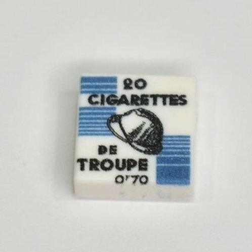Printed LEGO® Tile 1x1 'WW2 French Cigarettes De Troupe'