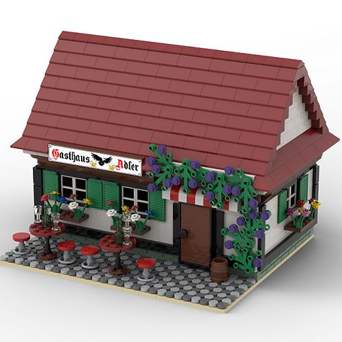 Custom Lego Building 'Gasthaus Adler'